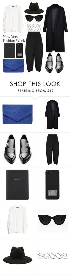 """Pack for NYFW!"" by eva-jez ❤ liked on Polyvore featuring Dorothy Perkins, Acne Studios, Chloé, Globe-Trotter, MICHAEL Michael Kors, MANGO, Quay, Forever 21, ASOS and women's clothing"