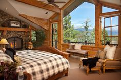 Biggest Myth About The Most Beautiful Bedrooms Ever Seen Exposed 141 Dream House Interior, Interior Design Living Room, Cabin Homes, Log Homes, Dream Bedroom, Home Bedroom, Master Bedroom, Luxury Cabin, Timber House