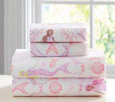 Bailey Mermaid Sheet Set : Standard Pillow Case : Coral