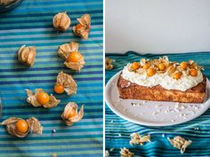 Physalis loaf with white chocolate yoghurt frosting | Sugar Thumb