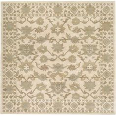 Surya CAE1182-99SQ Caesar 10' Square Wool Hand Tufted Traditional Area Rug - Beige
