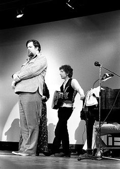 Dave Van Ronk and Bob Dylan at the Friends of Chile Benefit in 1974 organized by Phil Ochs after the U.S.-supported coup against Allende.