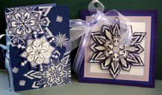 Snow Diamonds--These Rubber Art Stamps at Holly Berry House Originals make Gorgeously Elegant Cards or Ornaments! 719-636-2752