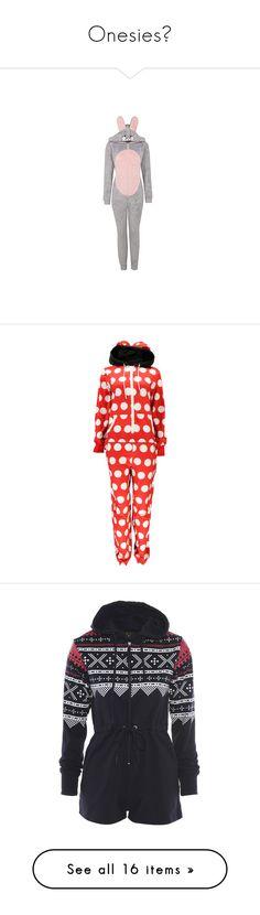 """Onesies🦄"" by moon-crystal-wolf ❤ liked on Polyvore featuring intimates, sleepwear, light grey, long sleeve sleepwear, disney, disney sleepwear, onesie, pajamas, pijamas and pyjamas"