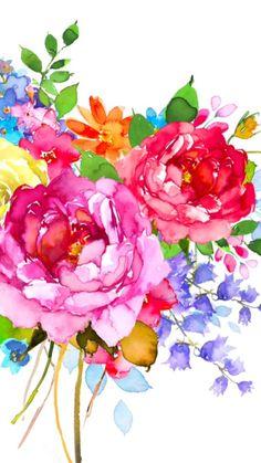 Image via We Heart It #background #floral #flowers #pattern #wallpaper #wallpapersiphone