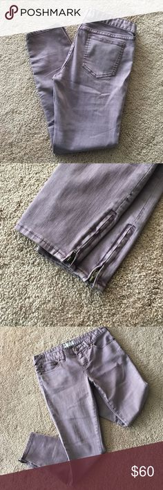 Purple free people skinny jeans Amazing jeans that are a plum purple wash with zipper bottoms for the best skinny fit! I ❤️ offers! Free People Jeans Skinny