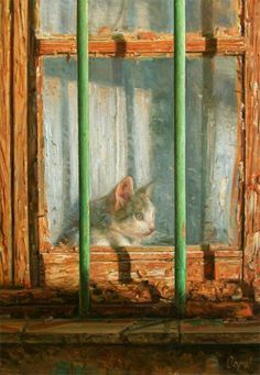 =^._.^= Cat in the window