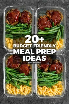 20+ Budget friendly meal prep ideas to keep your taste buds happy, your belly full, and your budget on track!