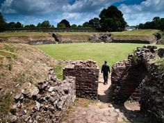 Roman Amphitheatre at Caerleon, Wales- this place is amazing, I want to go back.