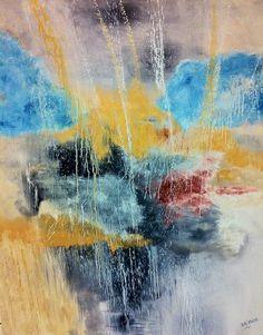 """""""The eye of Heaven""""  90 x 110 Oil on linen www.shireenpharaony.com"""