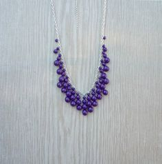 Hey, I found this really awesome Etsy listing at https://www.etsy.com/ca/listing/288543897/purple-beaded-statement-necklace-purple