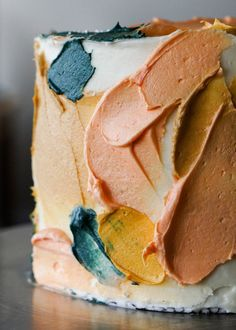 look: Abstract Painting Chocolate Cake Cupcakes, Cupcake Cakes, Creative Cakes, Creative Food, Naked Cakes, Food Cakes, Art Cakes, Pretty Cakes, Food Blogs