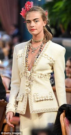 Vanessa Paradis supports model daughter Lily-Rose Depp at Chanel runway show | Daily Mail Online