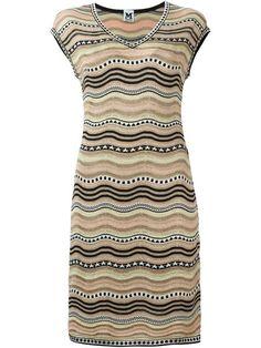 M MISSONI knitted V-neck dress. #mmissoni #cloth #dress