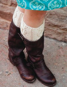 1 Hour Easy Boot Cuff Knitting Pattern