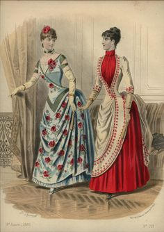 LA REVUE DE LA MODE  ... dated August 30, 1885