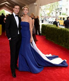 NEW YORK, NY - MAY 04:  Jared Kushner and Ivanka Trump attend the 'China: Through The Looking Glass' Costume Institute Benefit Gala at the Metropolitan Museum of Art on May 4, 2015 in New York City.  (Photo by Larry Busacca/Getty Images) via @AOL_Lifestyle Read more: https://www.aol.com/article/entertainment/2017/01/19/ivanka-trumps-dating-history-includes-hollywood-actor-topher-gr/21658741/?a_dgi=aolshare_pinterest#fullscreen