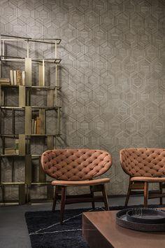 Arte International - Wallpaper collection Ligna modèle Hive http://www.s2hcommunication.com/fr/arte