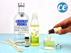 Ready in 2 Min Chrono: My Home Fragrance Diffuser That Lasts Weeks! Absolut Vodka, Diy Cleaning Products, Vodka Bottle, Diffuser, Fragrance, Vase, Excercise, Cleaning Tips, Cosmetics