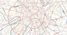 Moscow street map, 1:50.000