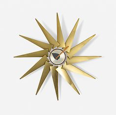 design-is-fine:  George Nelson, Turbine Wall clock, Model 2240, 1957. For Howard Miller Clock Company. Via Wright