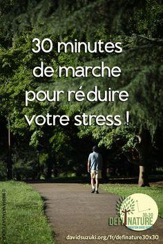 30 minutes de marche pour réduire le stress!