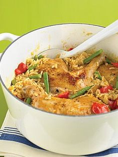 Spicy Coconut Chicken Casserole recipe: Settle in for the night with this cozy meal that gets to the table quickly and gets cleaned up even faster. One Dish Dinners, One Pot Meals, Chicken Casserole, Casserole Recipes, Coconut Chicken, Chicken And Dumplings, Asian, Chicken Seasoning, How To Cook Chicken