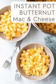 This creamy, comforting Instant Pot Butternut Squash Mac and Cheese is ready in less than 20 minutes and in just one pot! Using pre-cut butternut squash and sharp cheddar cheese, this healthy dinner idea is family and kid-friendly! Yummy Pasta Recipes, Cooking Recipes, Cheese Recipes, Easy Recipes, Dinner Recipes, Yummy Food, Healthy Recipes, Mac And Cheese Healthy, Butternut Squash Mac And Cheese