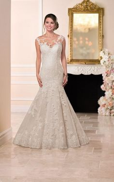 Stella York Wedding Dresses - Search our photo gallery for pictures of wedding dresses by Stella York. Find the perfect dress with recent Stella York photos. How To Dress For A Wedding, Sheer Wedding Dress, Wedding Gowns With Sleeves, 2016 Wedding Dresses, Fit And Flare Wedding Dress, Long Sleeve Wedding, Tulle Wedding, Bridal Dresses, Mermaid Wedding