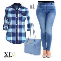Koszula w kratę Plus Size | Inspirująca XL ka