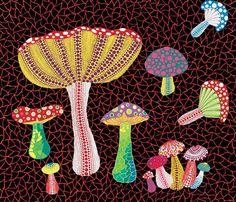 yayoi kusama mushrooms - Buscar con Google