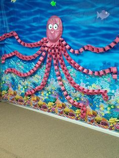 Unter dem Meer - Riesenkrake - Under the Sea Crafts - Unter dem Meer – Riesenkrake - Kids Crafts, Summer Crafts, Preschool Crafts, Arts And Crafts, Paper Crafts, Octopus Crafts, Ocean Crafts, Octopus Octopus, Under The Sea Crafts
