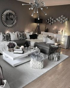 Small Living Room Ideas & Design on a Budget with Decoration Tips Contemporary Living Room in Cologne – Architecture and Home Decor – Bedroom – Bathroom – Kitchen And Living Room Interior Design Decorating … Living Room Decor Furniture, Glam Living Room, Living Room Decor Cozy, Small Living Rooms, Living Room Modern, Living Room Interior, Cozy Living, Furniture Design, Furniture Ideas