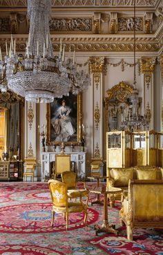 White Drawing Room, Buckingham Palace, by Ashley Hicks Classic Interior, Best Interior, Luxury Interior, Interior Architecture, Mansion Interior, French Architecture, Buckingham Palace, Palaces, French Cottage
