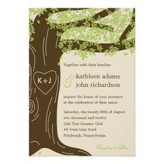 Oak Tree Wedding Invitation