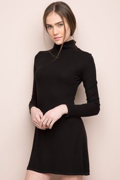 Brandy ♥ Melville | Danea Turtleneck Dress - Dresses - Clothing