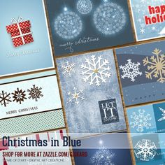 Christmas in Blue... a collection of #xmas cards where #blue, the color of #winter, is the dominant shade. Suitables for any style. #christmas #holidays #snowflakes #snow #christmascards #christmasholidays #presents #gifts #christmasgifts #christmastree #seasonal #joy #zazzle #zazzleshop #zazzler #digitalartcreations Note: Got troubles with the link?... Copy it and open it in a new tab/window...