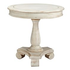 Signature Design by Ashley Mirimyn Round Accent Table - White