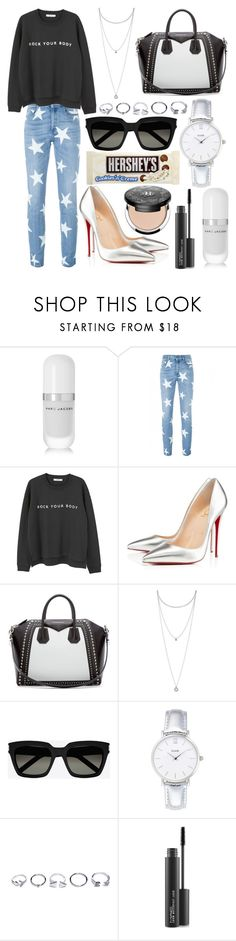 """310."" by plaraa on Polyvore featuring Marc Jacobs, STELLA McCARTNEY, MANGO, Christian Louboutin, Givenchy, Lucky Brand, Yves Saint Laurent, CLUSE, GUESS and MAC Cosmetics"