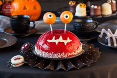 #Monster #Torte mit Cake Pop-Augen für #Halloween, #cake, #gateau