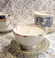 Dollar Store Crafts » Make Candles out of Teacups