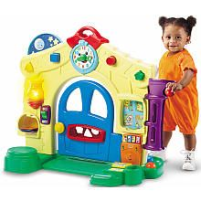 House. Double-sided with activities on both sides but is not a full play house. $79.99. 6mo-3yr