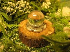 dollhouse miniature fantasy crystal ball for Fairy, Elf, Witch, or Wizard 1:12 scale - sharisminis