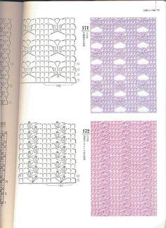 MUCHAS VARIEDADES DE PUNTOS A CROCHET | Patrones Crochet, Manualidades y Reciclado