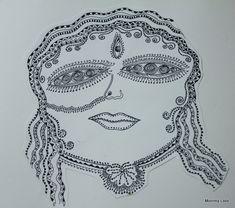 Zentangle: Indian Goddess Durga @Mommy Labs