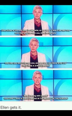 Ellen is a fangirl :D<<< *Shelrock fandom laughing in unison* We All Mad Here, Fangirl, Thing 1, 221b, Kids Shows, Superwholock, I Smile, Laugh Out Loud, My Idol