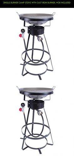 Single Burner Camp Stove with Cast Iron Burner, Wok Included #drone #technology #kit #fpv #camera #racing #plans #wok #products #parts #tech #gadgets #outdoor #cooking #shopping