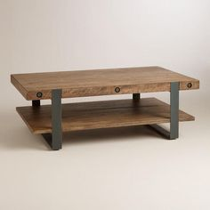 One of my favorite discoveries at WorldMarket.com: Rustic Skylar Coffee Table