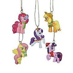 Hasbro 5 Pack Mini Christmas Ornament Gift Set - My Little Pony