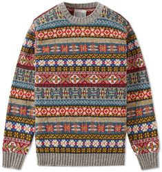 Buy the Jamieson's of Shetland Fair Isle Crew in Steel from leading mens fashion retailer END. - only Fast shipping on all latest Jamiesons of Shetland products Fair Isle Pullover, Preppy Mens Fashion, Men's Fashion, Fair Isle Knitting, Sock Knitting, Knitting Machine, Vintage Knitting, Free Knitting, Fair Isle Pattern